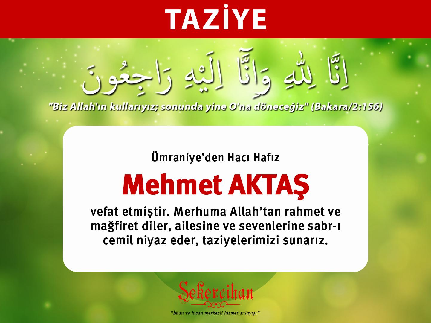 Taziye – Hacı Hafız Mehmet Aktaş