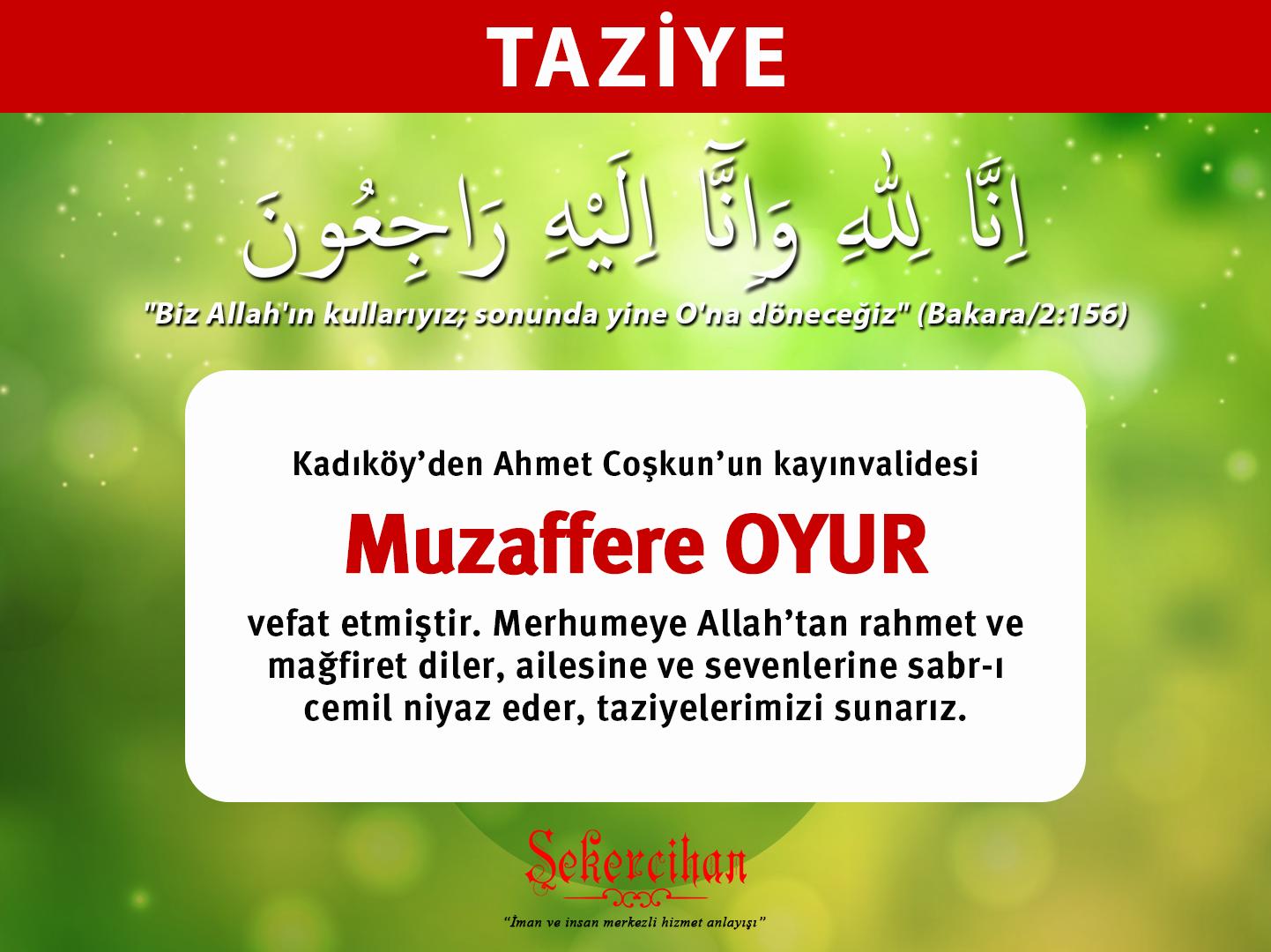 Taziye – Muzaffere Oyur