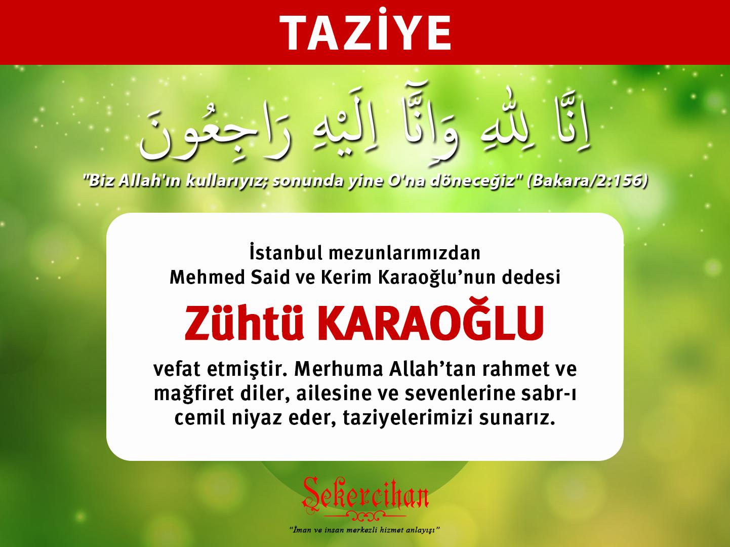 Taziye – Zühtü Karaoğlu